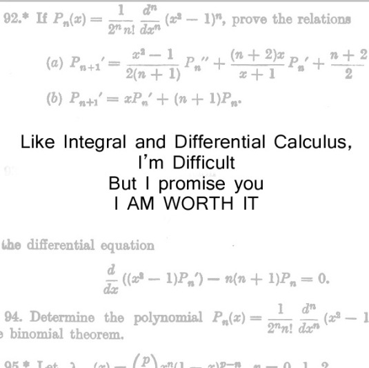Like calculus and all the things that you can't bear